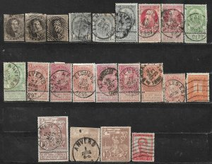 COLLECTION LOT OF 22 BELGIUM 1858+ STAMPS CV+$33 CLEARANCE