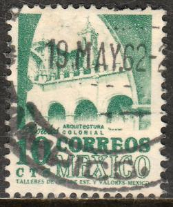 MEXICO 876, 10cents 1950 Definitive 2nd Printing wmk 300. USED. F-VF. (63)