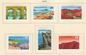 AUSTRALIA Scott 641-646 MH* stamp set