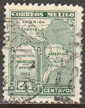 MEXICO 659, 4cents POSTAL CONGRESS. USED.(957)