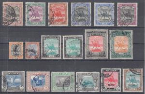 Sudan Sc 16/MO6 used. 1902-91 issues, 18 different, sound, F-VF.
