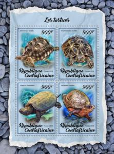 C A R - 2018 - Turtles - 4v Sheet - M N H
