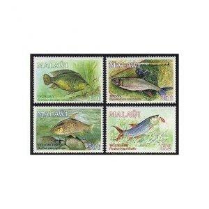 Malawi 542-545,MNH.Michel 525-528. Angling Society-50,1989.Tropical fish.
