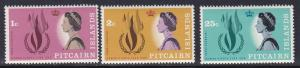 Pitcairn Islands # 88-90, Human Rights Flame, NH, Half Cat.