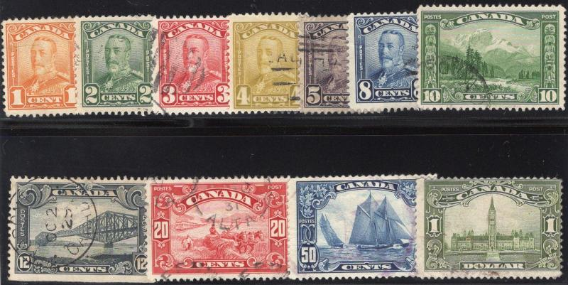 Canada #149 to #159 - Used - Cat.$196.60