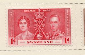 Swaziland 1937 Early Issue Fine Mint Hinged 1d. 144888