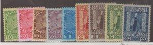 Austria - Offices in Turkish Empire Scott #46-54 Stamps - Mint Set