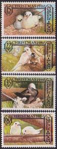 Norfolk Islands MNH 273-6 Christmas Birds 1980