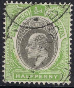 SOUTHERN NIGERIA SG10 1903 ½d GREY-BLACK & PALE GREEN FINE USED