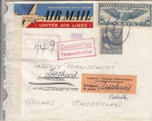 1941, Port Washington, NY to Lummis, Switzerland, See Remark (C4024)