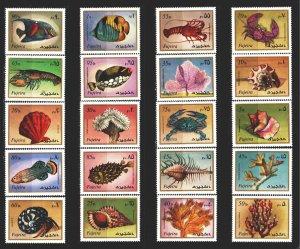 Fujairah. 1972. 1019-38. Fish, shells, corals. MVLH.