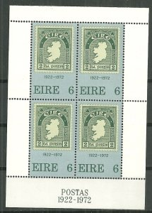 1972 Ireland 326a  50th Anniversary of 1st Irish Stamp MNH S/S