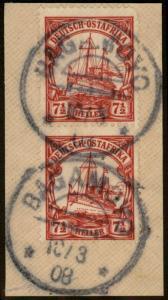 Germany 1908 East Africa Mi32 Wmk BAGAMOYO Deutsch Ostafrika DOA 78787