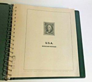 LINDNER HINGELESS ALBUM US REGULAR POSTAGE 1857-1967 - NO STAMPS