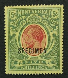 MOMEN: MONTSERRAT SG #48s SPECIMEN MINT OG LH LOT #191590-503