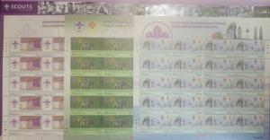 O) 2014 MALAYSIA, SPECIMEN SERIE 0000,  SCOUTS- EMBLEMS, HISTORICAL MONUMENTS -