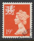 Wales SG W50 SC# WMMH36 Used  with first day cancel 19p Machin