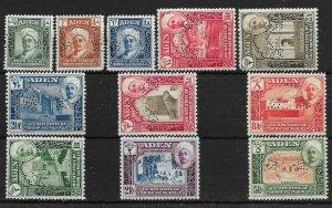 ADEN-HADHRAMAUT SG1s/11s 1942 SPECIMEN SET MTD MINT
