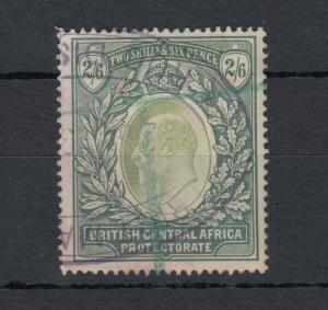 British Central Africa KEVII 1903 2s 6d Fiscally Used SG63 VFU J5337