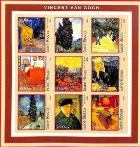 A0862 - GUINEA-BISSAU - ERROR  IMPERF SHEET - ART Painters : Vincent van Gogh