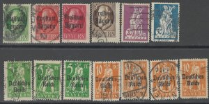 COLLECTION LOT # 2884 BAVARIA 13 STAMPS 1919+ CLEARANCE CV+$24
