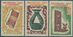 Comoro Islands 1963 SG36-38 Handicrafts set MLH