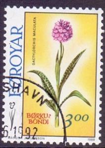 Faroe Islands 1988 cancelled 170 flowers  3k.   #