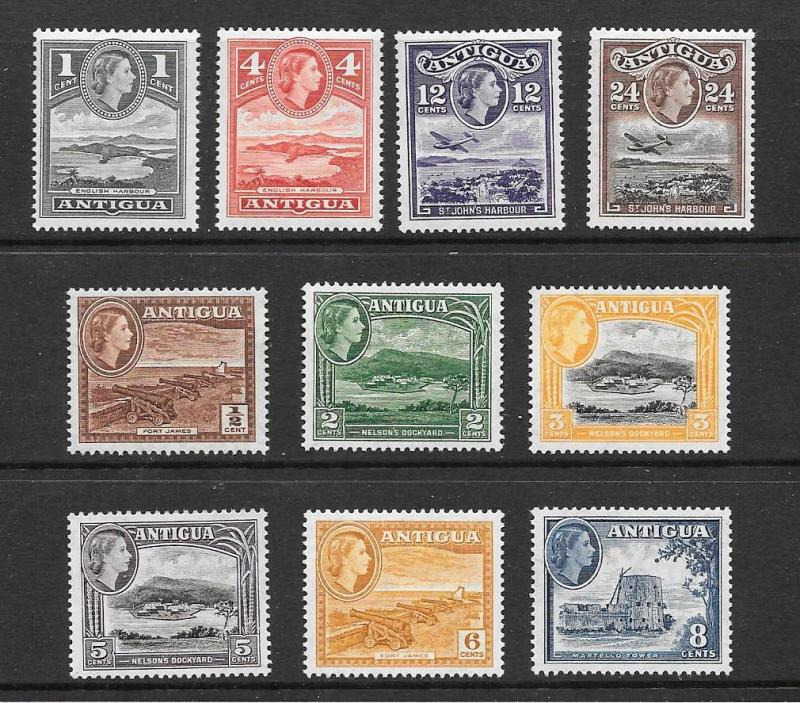 Antigua #107-116  Mint NH