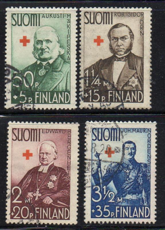 Finland Sc B27-30 1938 Red Cross stamp set used