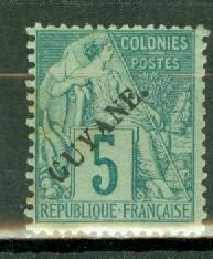 French Guiana 21 mint CV $47.50