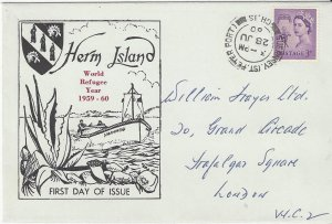 Great Britain Herm Island  First Day Cover  World Refugee Year