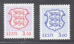 Estonia Sc 333-4 1998 National Arms stamp set mint NH
