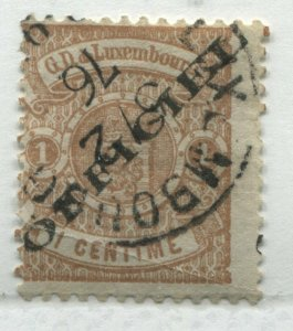 Luxembourg 1875 overprinted Official 1 centime used