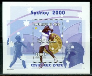 CHAD SYDNEY  OLYMPIC GAMES TENNIS VENUS WILLIAMS SOUVENIR SHEET MINT NH