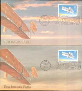 #3783 Wright Brothers First Flight Fleetwood FDC Set