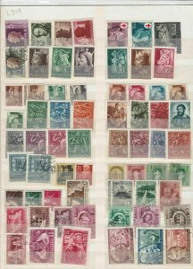 mixed europe stamps sheet ref 17803