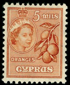 CYPRUS SG175, 5m brown-orange, M MINT.