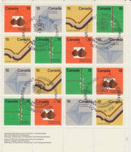 Canada 1972 Earth Sciences Sheetlet, #582-585 Used