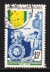 COMORO ISLANDS — SCOTT 39 — MILITARY MEDAL COMMON DESIGN — USED — SCV $45.00