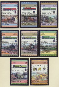 St. Lucia Stamps Scott #617 To 624, Mint Never Hinged, Pairs