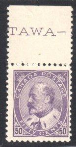 Canada #95 F-VF NH with upper margin C$2200,00 +++
