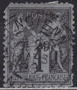 France 86 Used 1877 Peace & Commerce 1c