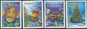 New Caledonia - Underwater Greetings - 4 Stamp Set - 14L-005