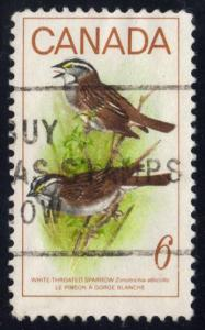 Canada #496 White-throated Sparrows, used (0.20)