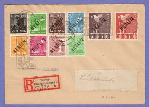 BER SC #9N1,4,6,8,10,12,14,16,18-19 Reg. Charlottenburg (10-19-1948) to New York
