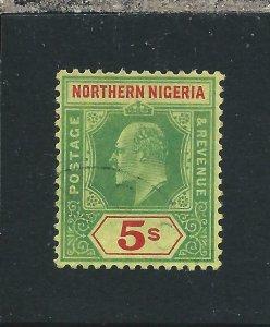 NORTHERN NIGERIA 1910-11 5s GREEN & RED/YELLOW FU SG 38 CAT £75