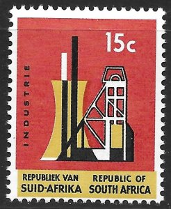 South Africa 15c Industry issue of 1967, Scott 323 MNH