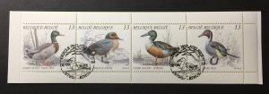 Belgium 1989 #1324a Unfolded booklet, Used/First day cancel