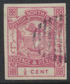 North Borneo  SG 36a Imperf Used please see scans & details