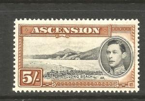 ASCENSION 1938  5/-   KGVI  PICTORIAL  MH     SG 46